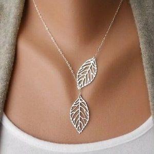 Silver Leaf Adjustable Pendant Necklace